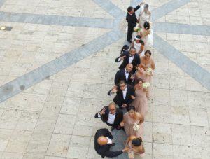Drone Wedding flyover